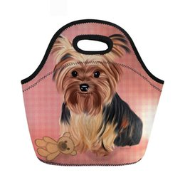 China Yorkie Neoprene Thermal Lunch Bag Insulated Women Cute Dog Print Cooler Storage Picnic Bags For Children Torba Termiczna supplier cute cooler bags suppliers