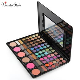 Discount eyeshadow palette mirror - 78 Colors Neutral Warm Eyeshadow Eye Shadow Cosmetics Mineral Make Up Professional Shimmer Makeup Pigment Palette Kit &M