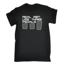 Used t shirts online shopping - Real Men Use Three Pedals T SHIRT Race Car Fast Track Speed Racer Birthday