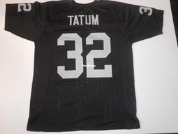 9b950ee5888 Cheap Retro custom Sewn Stitched #32 Jack Tatum Black MITCHELL & NESS Jersey  Throwbacks Men's Football Jerseys