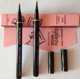 Wholesale Newest Waterproof Brown Days Eye Brow Eyebrow Tattoo Pen Liner Long Lasting Makeup Women Gifts High Quality Eyebrow Liner DHL Free Ship