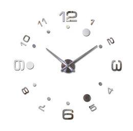 Discount reloj pare - hot Quartz Watch Wall Clock Acrylic Mirror Diy Clocks Reloj De Pared Horloge Murale Living Room Modern Acrylic 3d Sticke