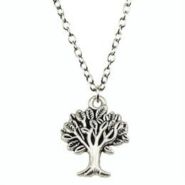 Necklaces Pendants Australia - WYSIWYG 5 Pieces Metal Chain Necklaces Pendants Pendant Necklace Women Tree 22x17mm N2-B11001