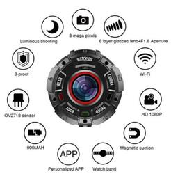 Watchsdv Action Camera Full HD 1080P 30 metri Impermeabile 8MP Sport Video Cam Lenti grandangolari con cinturino Wifi Connect