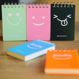 Discount notebook face - Cute Smile Face Design School Students Diary Journal Notebook Paper Sketch Book Office Stationery Notepad School Supplie