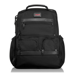 Hohe Qualität Ballistic Nylon Rucksack für Männer Outdoor Casual Reise Business Rucksack Handtasche Laptop Tasche wie Tumi Brief Pack Alpha2 26173
