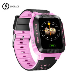 Digital Wrist Gps Australia - Sograce Smart Watches Kids Gift Smartwatch SOS Gps for child Phone Call Relogio 2G GSM SIM Card Boys Girls Digital Phone watch