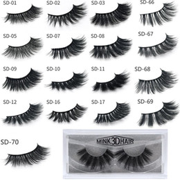 fiber lash extensions NZ - Hot selling 3D Mink Eyelashes Eyelashes Messy Eye lash Extension Sexy Eyelash Full Strip Eye Lashes By chemical fiber DHL