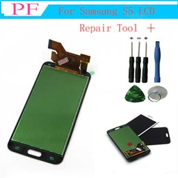 Discount s5 screen assembly - high Quality For Samsung galaxy s5 lcd replacement G900F Display LCD Screen Touch Digitizer Assembly for Galaxy S5 G900