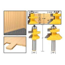 "Flooring Tool Wholesalers Australia - Flooring 2 Bit Tongue and Groove Router Bit Set - 1 2"" Shank"