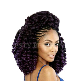 $enCountryForm.capitalKeyWord Canada - Esty beauty 8'' 20strands Jumpy Wand Curl Jamaican Bounce Synthetic Braiding Hair Extension Crochet Braid Kanekalon Hair For Woman