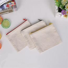 $enCountryForm.capitalKeyWord NZ - blank canvas zipper Pencil cases pen pouches cotton cosmetic Bags makeup bags Mobile phone clutch bag organizer LZ1577