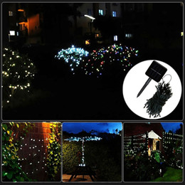 Holiday Solar Light Australia - 12m Solar Lamps LED String Lights 100LEDS White strings light Outdoor Fairy Holiday Christmas Party Garlands Waterproof Lawn Garden Lights