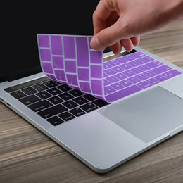 Discount english language - US Version English Language Silicone Keyboard Cover Sticker for New Macbook Pro Retina 13 inch 15 inch with Touch Bar
