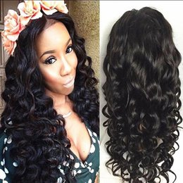 medium chestnut brown hair 2019 - Women Human Hair Full Lace Wig Brazilian Virgin Hair Lace Front 150%Density With Baby Hair Loose Curly Wig Chestnut Brow