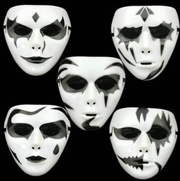 scream ghost face costume 2019 - Halloween Full Face mask Horror Skull Scream Ghost for Party Costume Cosplay Christmas Masquerade party mask KKA6178 dis