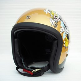 Painting Faces Australia - Hand craft painting tiger and dragon fiberglass 3 4 open Face helmet cross safe protective bike bicycle helmet