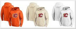 blank hockey hoodies NZ - Mens New Calgary Flames Vintage Blank Ice Hockey Shirts Uniforms Sweaters Hoodies Stitched Embroidery Sports Jerseys Sz S-XXXL For Sale