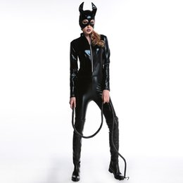 Adult Long Dresses UK - New Arrival 2018 Queen Costume Adults Demon Costumes For Women Halloween Long Backless Fancy Party Dress Carnival Cosplay sexy
