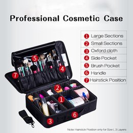 cosmetic cases professional box 2019 - Women Makeup Bags Cosmetic Case Box Travel Organizer Large Capacity Professional Make Up Pouch Suitcase Brushes Storage