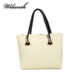 Ivory Handbags Canada - Wilicosh New Hot Sale Women's Bag Famous Brand Top-Handle Women's Handbags Women Leather Hand Bag Bolsas Shoulder Tote HC393