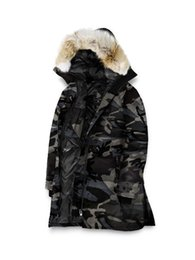 brown down parkas UK - Women's Down Parka Top Copy Hoodie With Big Raccoon Fur Zipper Wholesale-New Winter Coats Women Jackets Arcticparka Sale For Shelburne