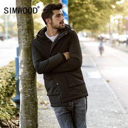 $enCountryForm.capitalKeyWord Canada - Simwood Winter Hooded Puffer Jacket Men 2017 New Long Trench Fashion Jackets Coats Plus Size Outwear Windbreaker MC017004