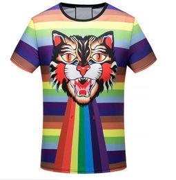 Tiger T Shirts For Men NZ - 2018 New T-shirt Fashion Tiger Printed Men's Casual Summer Students Short Sleeve Tops Tees Shirt For Men
