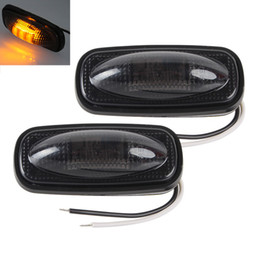 Yellow car leds online shopping - 1 Pair LEDs Car Side Marker Lights Clearance Lamp for Truck Pickup Dodge V Red Yellow