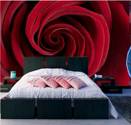 designer kitchen wallpaper UK - red Rose bedside mural wallpaper for walls 3 d for living room wall papers home decor designers