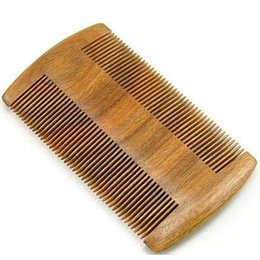 Uses Oil UK - Wooden Beard Comb Dual Action Fine Teeth Perfect for use with Balms and Oils, Green Sandalwood Comb for Beards & Mustaches Dropshipping