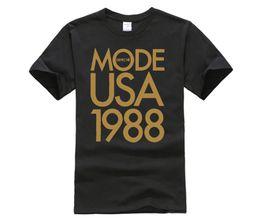 Pop Tees Canada - funny men cotton t shirt Depeche Mode 1988 USA Tour t shirt Pop Rock Men tee euro size S~XXXL (2)
