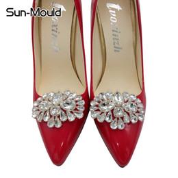 $enCountryForm.capitalKeyWord Australia - hoe clips wedding Daily shoes flower charms bridal high-heel pumps accessories crystal diamond shoe clips Fashion wedding decoration buck...