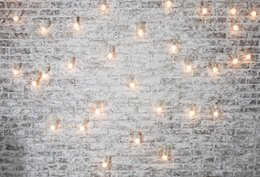 Discount scenic backdrop brick wall - Laeacco Photography Backgrounds Christmas Light Decor Brick Wall Scene Baby Children Photographic Backdrops For Photo St