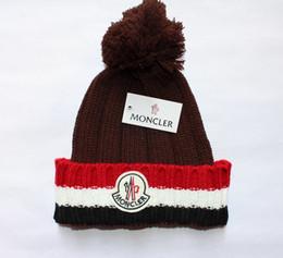 Knitting for hair online shopping - 2018 mens designer hats Top hair ball bonnet winter beanie knitted wool hat plus velvet cap skullies Thicker mask Fringe beanies for men
