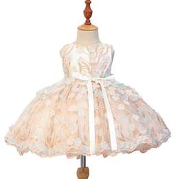$enCountryForm.capitalKeyWord UK - Super Cute Champagne Beading Flower Girls Pageant Dresses Sleeveless Jewel Neck Short Mini Formal Dresses for Girls Party Birthday Prom