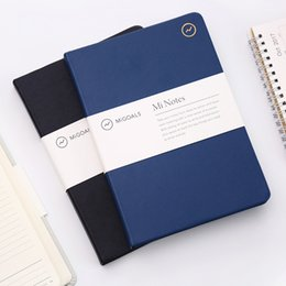Korean School Stationery Australia - 2018 New Classic Korean Stationery School&Business Faux Leather Hardcover Lined Notebooks And Journals Dairy Book Sketchbook A5