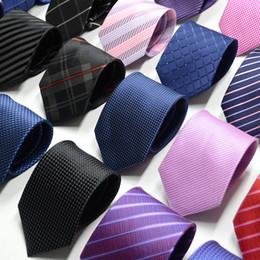 High-end Silk Necktie Fashion Design Mens Business Silk Ties Neckwear Jacquard Business Tie Wedding Neckwear 80 Colors on Sale