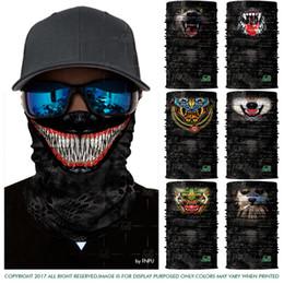 1ff8152cefc Red Skull Bandana NZ - 3D Seamless Magic Headband Joker Skull Skeleton  Bandana Scarf Camo Army