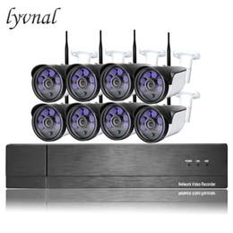 4tb hdd 2019 - LYVNAL 8ch wifi camera kit h.265 2mp wireless Surveillance camera sony 1080p p2p onvif 8ch nvr system with 2tb 4tb hdd w