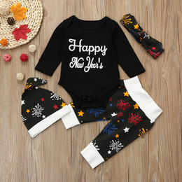 d7263e45692f Discount babe clothing - Newborn Baby Girls Boys New Year s Outfits Clothes  Romper+Pants+