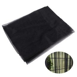 Fabrics Wedding Curtain UK - Solid Color Transparent Tulle Window Sheer Window Screen Voile Curtains for Wedding Bedroom 100x200cm (Black)