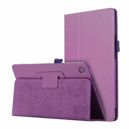 pet tablet Canada - Litchi PU Leather Cover Case for Huawei Mediapad M5 8.4 SHT-AL09 SHT-W09 8.4 inch Tablet + Stylus Pen + PET Screen Protector