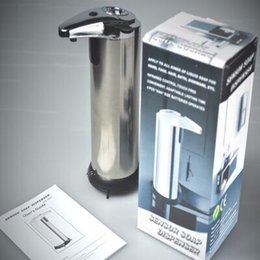 250ml máquina automática dispensadores de jabón líquido de acero inoxidable libre de la mano de lavado de lavado sin contacto para el Baño Cocina de accesorios de baño en venta