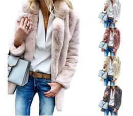 $enCountryForm.capitalKeyWord NZ - Winter Sherpa Coat for Women S-3XL Fleece Faux Fur Long Coats Lapel Neck Plus Size Street Outwear Jacket Cardigan Thick Fuzzy Coats Clothes