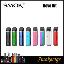 Wholesale SMOK Novo Kit Pod System Device ml Capacity Air Driven System Mini Body Top Rotary Refill Gorgeous Cobra Pattern Appearance Original