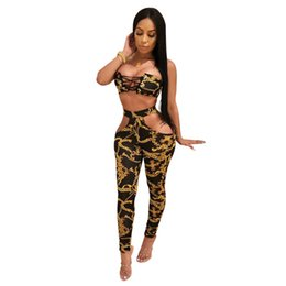 $enCountryForm.capitalKeyWord UK - women clothes 2 piece set outfits long sleeve backless bandage shirt pants tracksuit strapless bra+hollow out legging clubwear hot L1