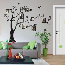 $enCountryForm.capitalKeyWord Australia - Hot Style 50*70cm Wall stickers DIY Photo Tree PVC Wall Decals Adhesive Family Wall Stickers Mural Art Home Decor