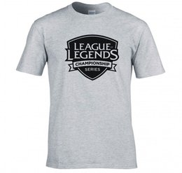 "t shirts league legend NZ - Tops wholesale Tee custom Environmental printed LEAGUE OF LEGENDS ""HAMPIONSHIP SERIES"" T SHIRT NEW 100% Cotton Classic tee"