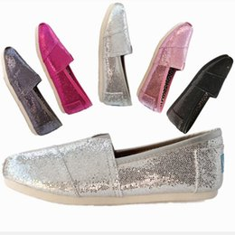 $enCountryForm.capitalKeyWord Canada - KIDS Casual Children's shoes Classics TOM MRS paillette Loafers Canvas Slip-On Flats shoes Lazy shoes size 25-34 free shipping